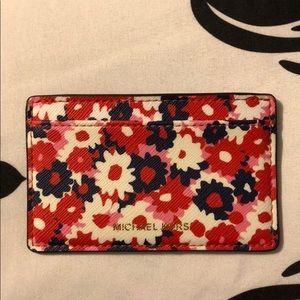 Michael Kors floral card holder